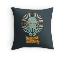 Cthulhu, Dreamer in the Deeps Throw Pillow