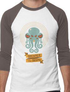 Cthulhu, Dreamer in the Deeps Men's Baseball ¾ T-Shirt
