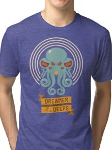 Cthulhu, Dreamer in the Deeps Tri-blend T-Shirt