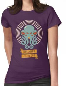 Cthulhu, Dreamer in the Deeps Womens Fitted T-Shirt