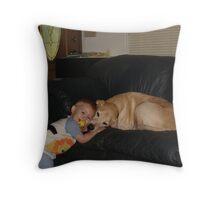 Luke loveing Kam Throw Pillow