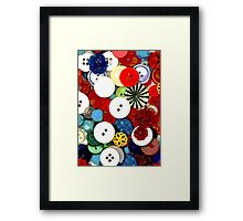 Colorful Button Background Framed Print