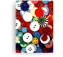 Colorful Button Background Canvas Print