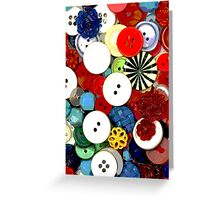 Colorful Button Background Greeting Card