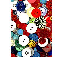 Colorful Button Background Photographic Print
