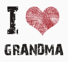 I love Grandma Kids Tee