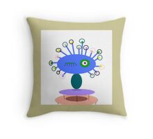 COLLECTABLE KIDS ART, POLLY DOLLOPS perriwinkle  Throw Pillow