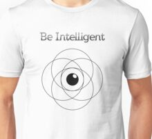 Be Intelligent Erudite Eye - Black  Unisex T-Shirt