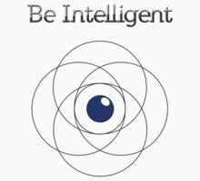 Be Intelligent Erudite Eye - Black & Blue One Piece - Short Sleeve