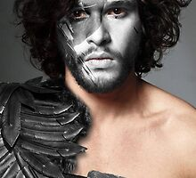 Jon Snow Crow House Stark War Paint by HilaryHeffron
