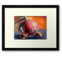 Kirby Smash Bros. Attack! Framed Print