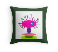 ART COLLECTABLE, POLLY DOLLOPS pinkie Throw Pillow