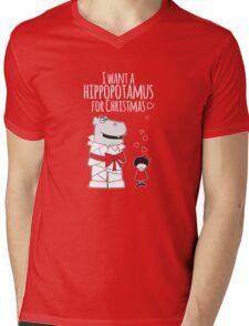 I Want a Hippopotamus for Christmas Mens V-Neck T-Shirt