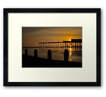 Sunset On Broken Bognor Pier Framed Print