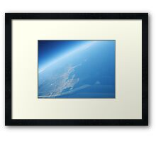 Shuttle Re-entry Framed Print