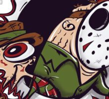 The Freddy and Jason Show Sticker