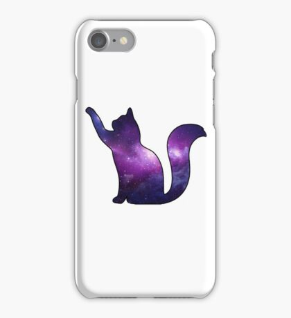 Galaxy Cat Playing iPhone Case/Skin