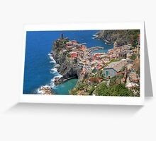 Vernazza from Above - Widescreen Greeting Card