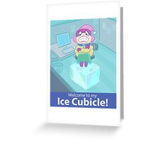 Ice Cubicle Greeting Card