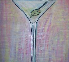 martini with olive by Gina Syracuse