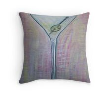 martini with olive Throw Pillow