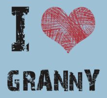 I Love My Granny Baby Tee