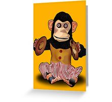 Clapping Monkey Greeting Card