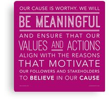 Be Meaningful Canvas Print