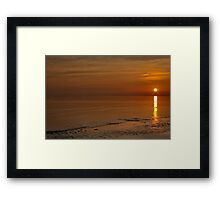 Bognor Rocks At Sunset Framed Print