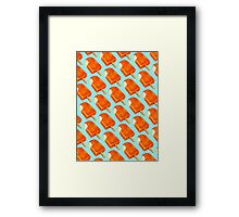 Creamsicle Pattern Framed Print