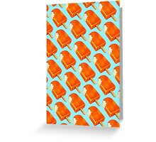 Creamsicle Pattern Greeting Card