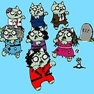 Zombie Thriller Cats by jrock1184