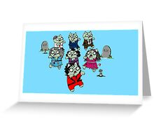 Zombie Thriller Cats Greeting Card