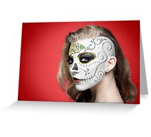 Natalie Dormer Dia de Los Muertos Day of the Dead MakeUp Greeting Card