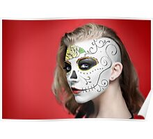 Natalie Dormer Dia de Los Muertos Day of the Dead MakeUp Poster