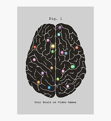 Your Brain On Video Games  Photographic Print