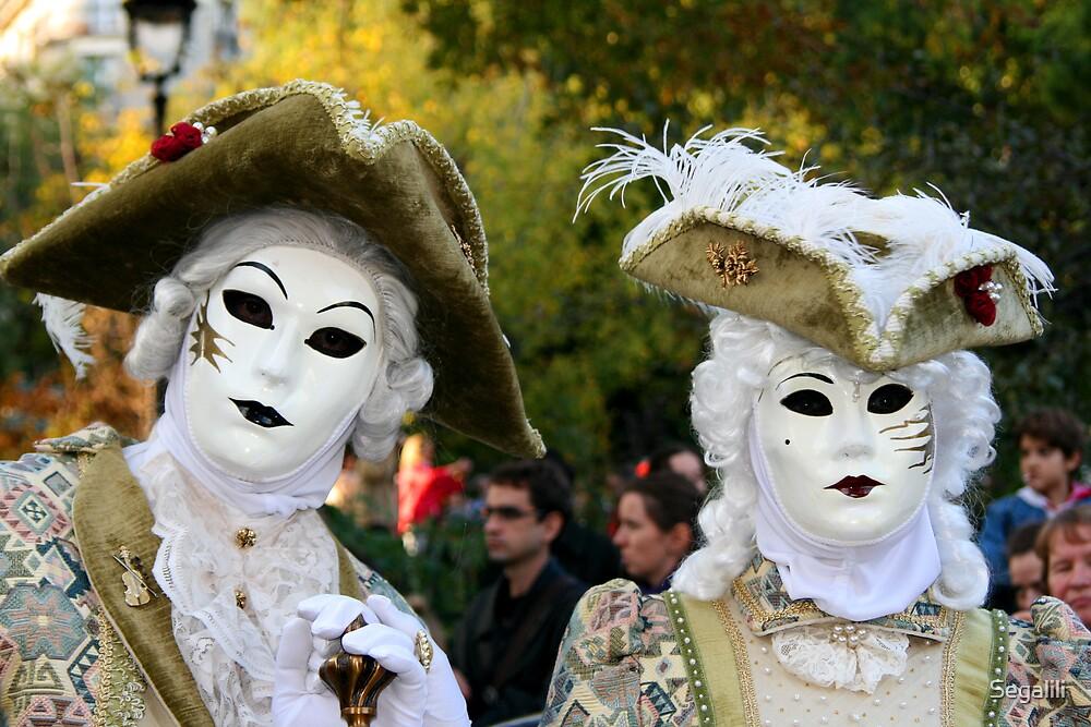 Two White Masks by Segalili
