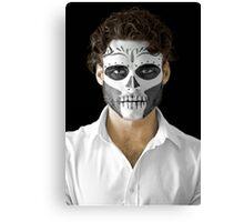 Richard Madden Dia de Los Muertos Day of the Dead MakeUp  Canvas Print