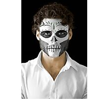 Richard Madden Dia de Los Muertos Day of the Dead MakeUp  Photographic Print