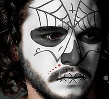 Kit Harington Day of the Dead Dia de los Muertos Makeup by HilaryHeffron