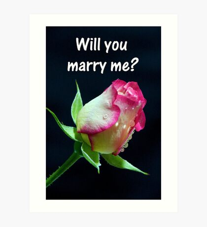 """Will You Marry me?"" Art Print"