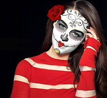 Emilia Clarke Day of the Dead Dia de los Muertos Makeup by HilaryHeffron
