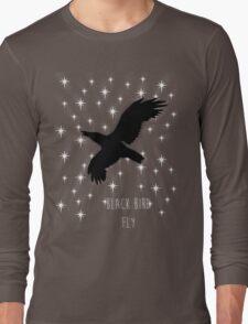 Black Bird Fly ~ Simplistic Design Long Sleeve T-Shirt