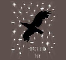 Black Bird Fly ~ Simplistic Design Unisex T-Shirt
