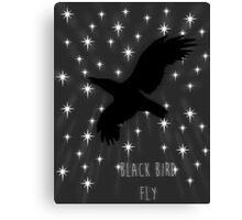 Black Bird Fly ~ Simplistic Design Canvas Print