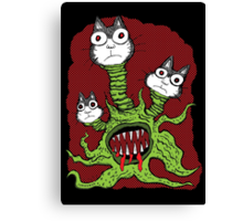 Kitty Monster Canvas Print