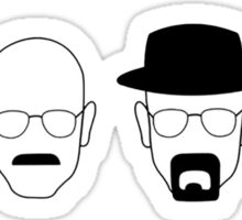 The transformation of Walter White. Sticker