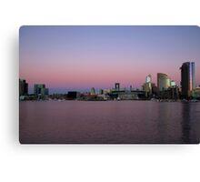 Sunset over Melbourne Canvas Print