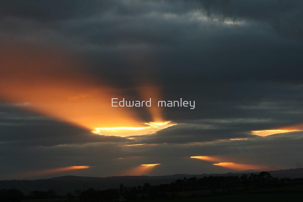 winter sun in Eire by Edward  manley