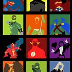 DC Comics Justice Leage Silhouettes by morethandust